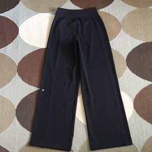 Lululemon women's wide leg pants drawstring ankles